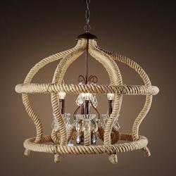 Dekoracyjna lampa Retro przemysł 75CM liny konopne lampa wisząca z żelaza lekka kreatywna osobowość salon restauracja kawiarnia retro GY225