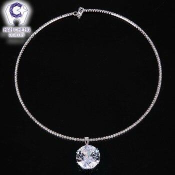 03e746cb86b0 HanCheng nueva de lujo de moda Simple Rhinestone Zircon colgante  gargantilla collar de las mujeres collares