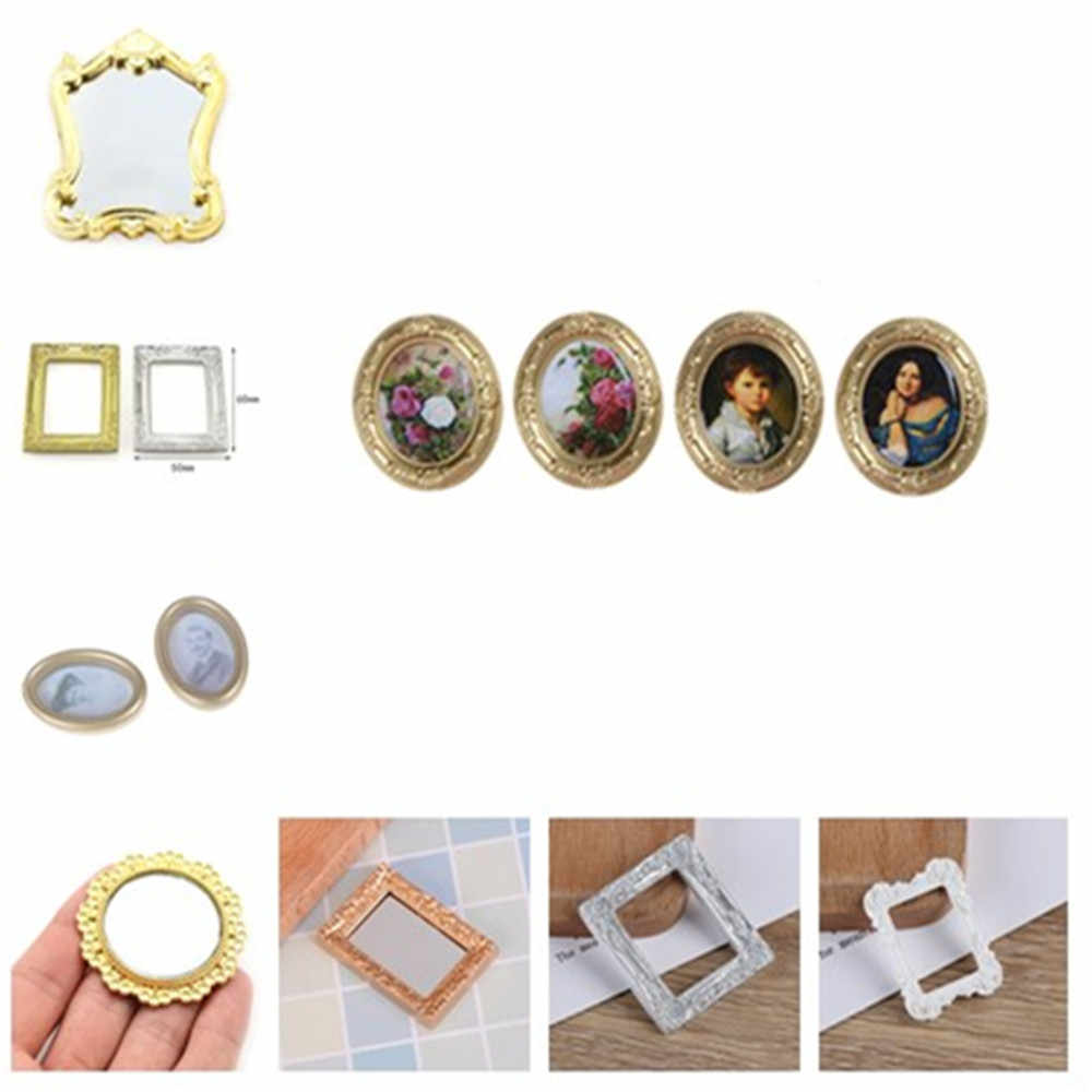 1/12 Dollhouse Miniature Frame for Dolls House Living Room Bedroom Furniture Decor Toys Wall Painting Accessories