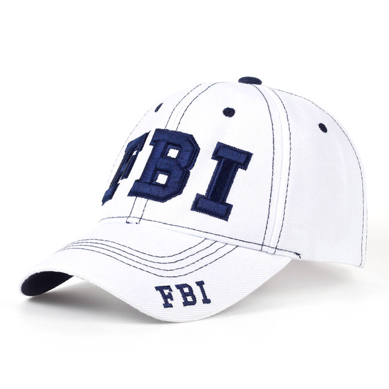 TUNICA 2017 Fashionable Cotton FBI Cap Embroidered Neutral Baseball Cap Casual Adjustable Sun Hat