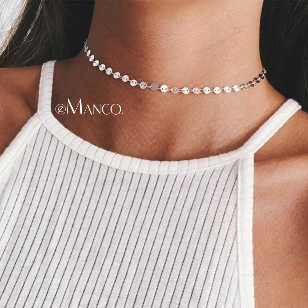 eManco Wholesale Beads Making Chains Choker Necklace Golden Color New Arrivals Gifts for Women Fashion Jewelry