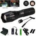 Q5 T6 tactique LED pistolet lumière 5000 Lumen Zoomable vert/rouge/blanc chasse Flash lumière + pistolet montage + 18650 batterie + commutateur de presse à distance