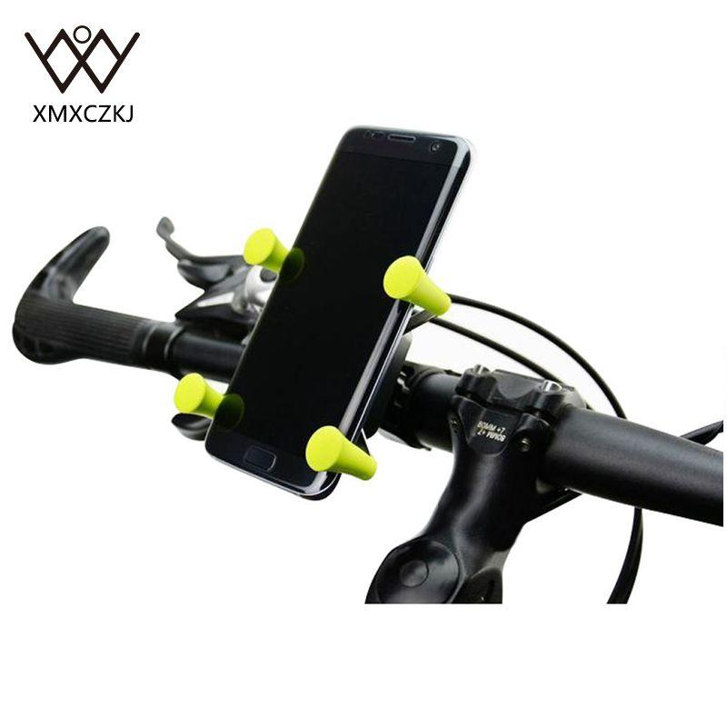 2 PCS Bicicleta Bicicleta Motocicleta Manillar Soporte para teléfono - Accesorios y repuestos para celulares - foto 2