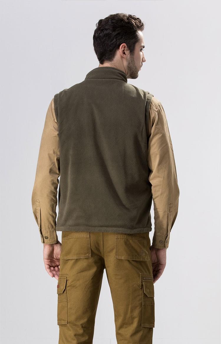 2015 Autumn Spring Casual Men Vest Coat Fleece AFS JEEP Cotton Multi Pocket 4XL Cargo Outdoor Sleeveless Jackets Waistcoat Vests (5)