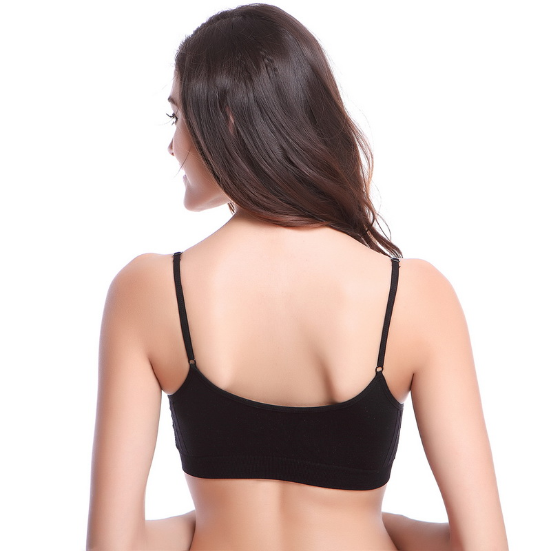 acbc6854a6 Vertvie 2PCS Comfortable Yoga Bra Women Sports Bra Sets NO PAD Crop Top  Brassiere Wirefree Girls Breathable Sexy Underwear Tops-in Sports Bras from  Sports ...