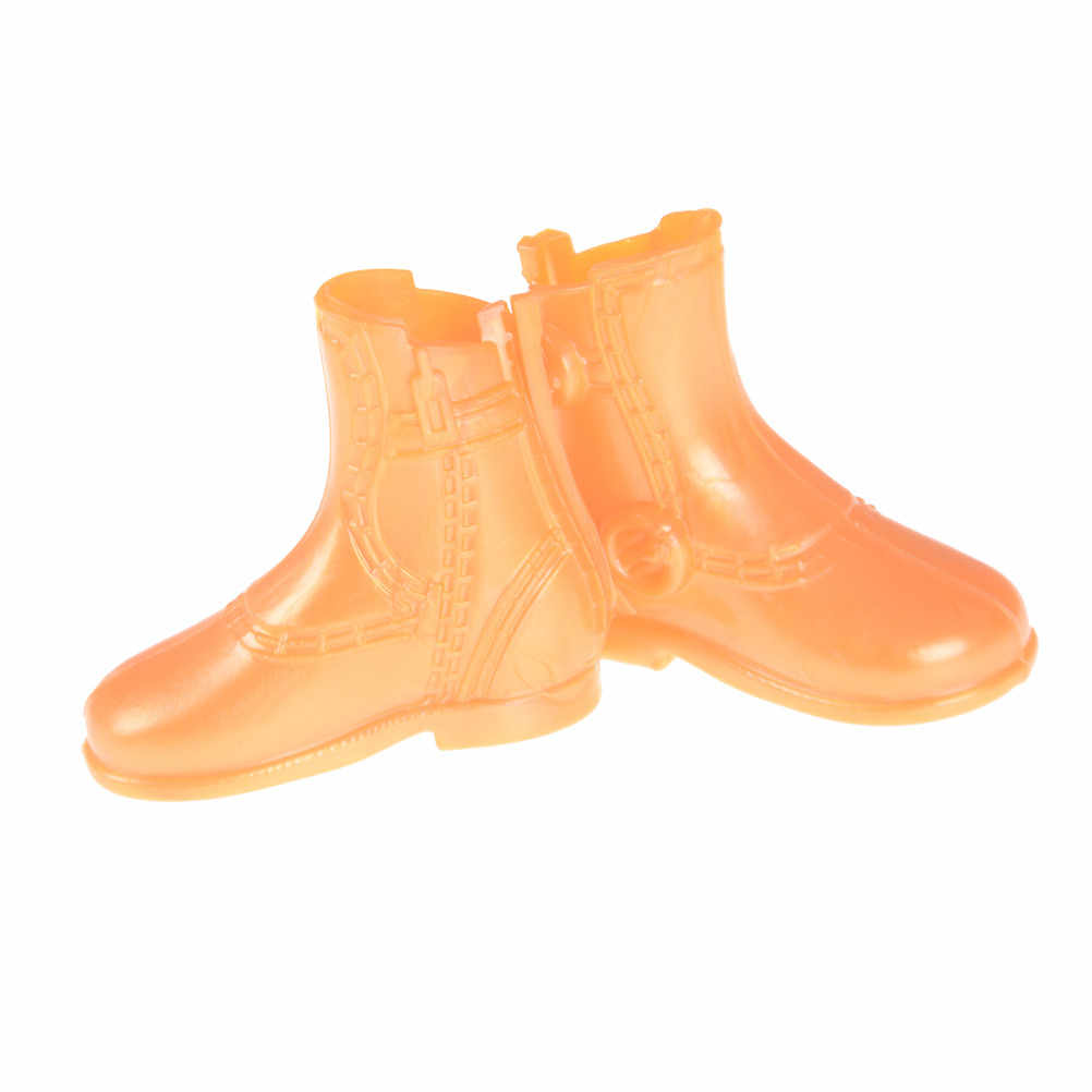 1Pairs/lot New Male Orange Color Short Boots For Monster Dolls 12'' Ken Casual Shoes Toy Doll Accessories High Quality