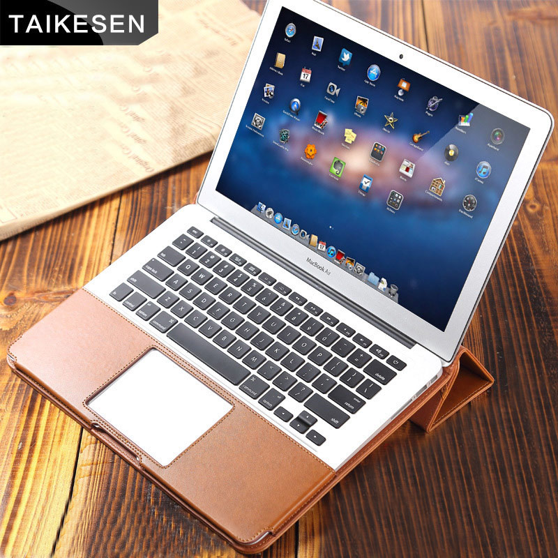 TAIKESEN PU Leather Laptop Cases Cover Flip Stand for MacBook Pro Air Retina 13 15inch Portable