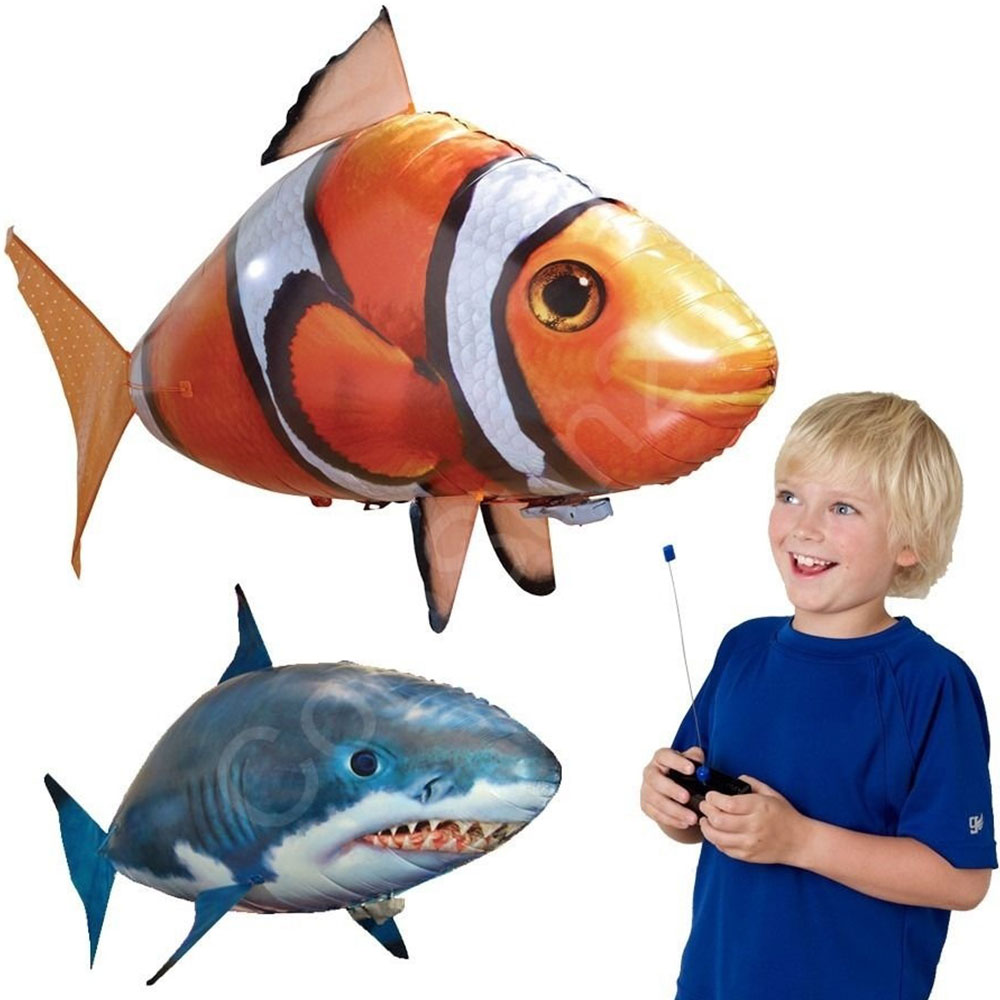 RC Remote Control Toys Balloon Funny Ordinary Inflatable Blimp Shark Clownfish Animal Fish Interaction Interest Teenagers Kids
