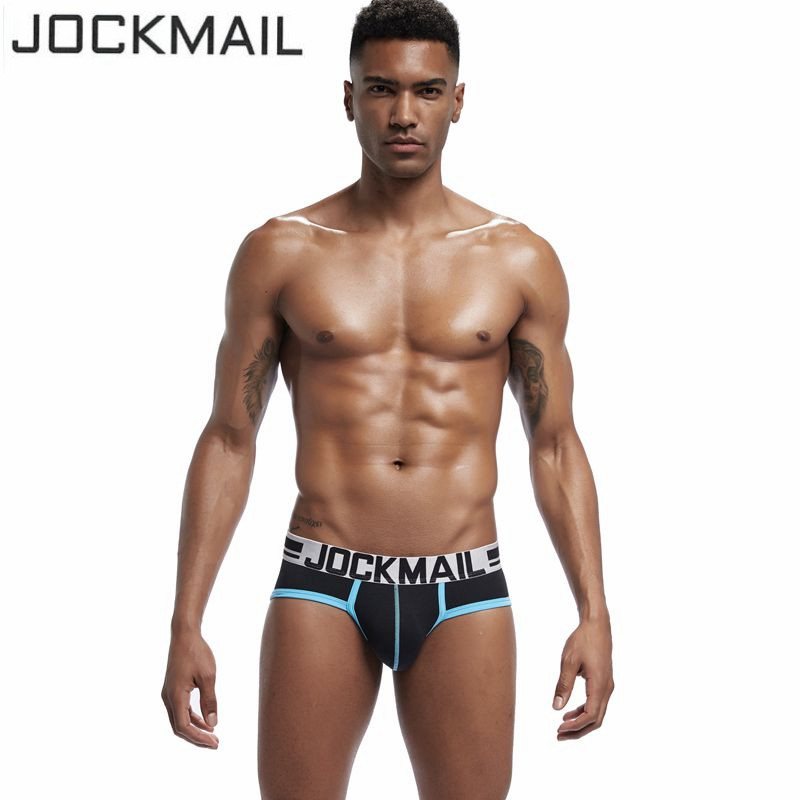 JOCKMAIL Brand Men underwear New Fashion Men's Soft Cotton Sexy Briefs underpants Male panties tanga Slip Cueca Gay underwear
