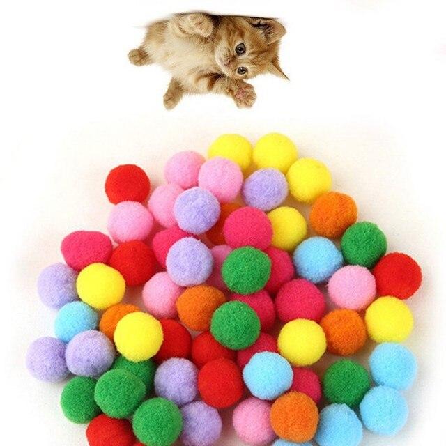10 pezzi/lotto Morbido Gatto Palle giocattolo Giocattoli Gattino di colore Della