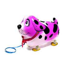 Pink Spotty dog shape balloon toy children like cute walking pet balloons party balloons with good quality