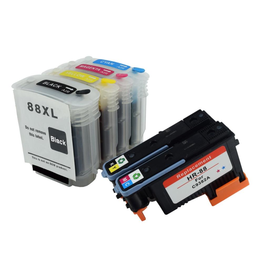 88 Printhead & Cartridge Set for HP88 Compitable for HP K5400 L7550 L7580 L7590 L7650 L7680 L7750 L7780 K5300 K8600 K550 L7380 for hp88 arc chip for hp l7590 l7650 l7680 l7681 l7700 l7750 l7780 k550 k5400