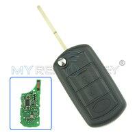Przerzuć zdalne car key 434 mhz dla Landrover Range Rover LR3 remtekey HU101 3 przycisk ID46 chip na płytce drukowanej