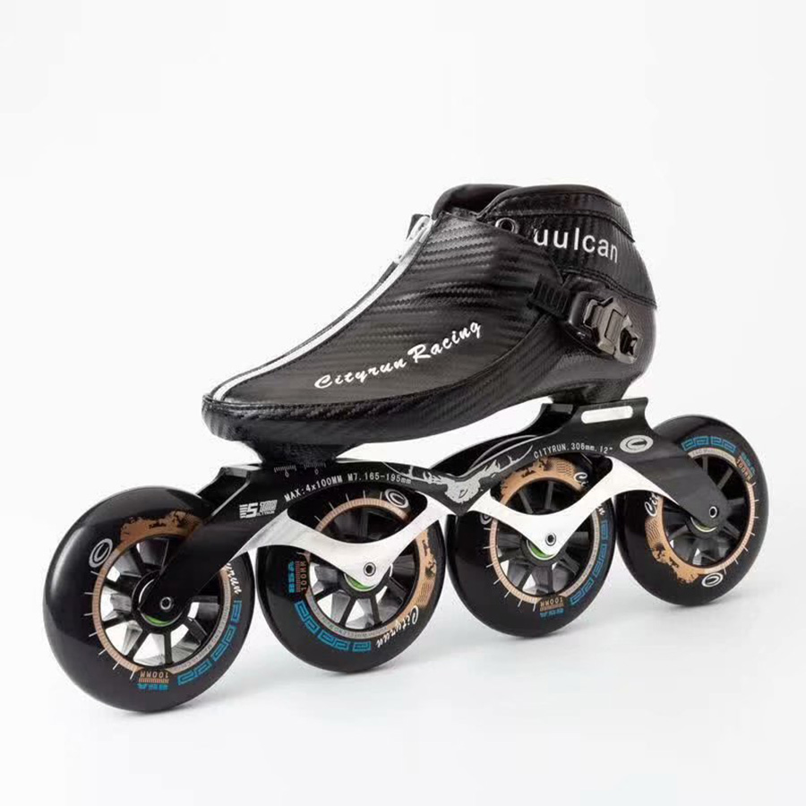 2019 Cityrun Speed Inline Skates EUR Size 30 44 Carbon Fiber Professional Competition Skates 4 Wheels