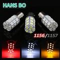 2pcs PY21W P21/5W S25 BAY15D 1156 27SMD 5050 LED bulb White/Red/Yellow lamp car brake lights rear lights stop lights