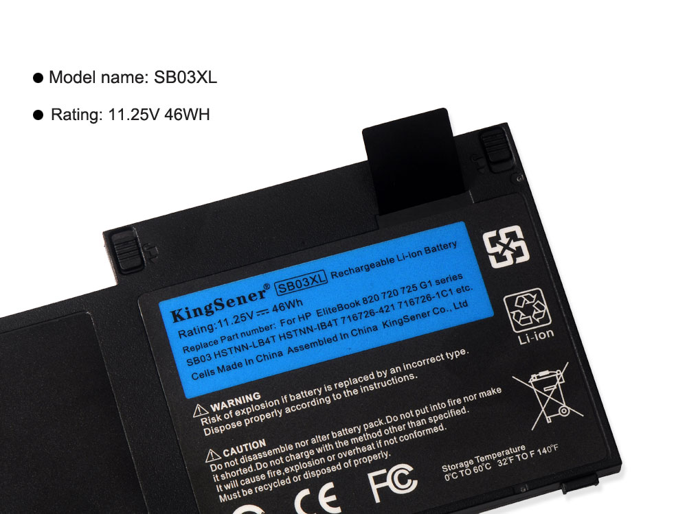 Image 5 - KingSener SB03XL Battery For HP EliteBook 820 720 725 G1 G2 755 G3 HSTNN IB4T HSTNN l13C HSTNN LB4T SB03046XL 717378 001 E7U25AA-in Laptop Batteries from Computer & Office