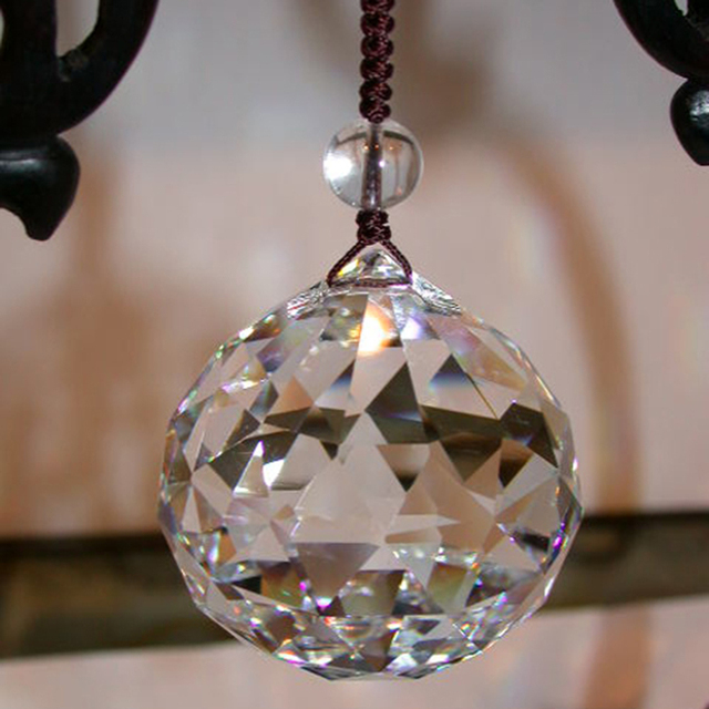 Fengshui Crystal Ball 40mm Hanging For Chandelier Parts Lighting Accessory Tree Decoration