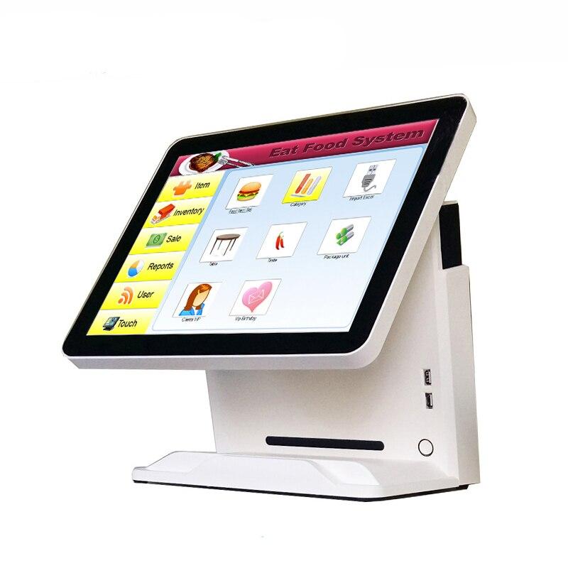 Günstige 15 zoll lcd kassen pos system alle in einem pc pos gerät touchscreen pos maschine - 3