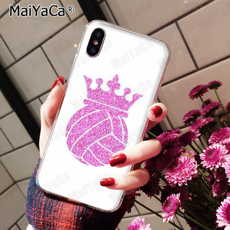 , MaiYaCa Volleyball Sports Colorful Cute Phone Accessories Case for iPhone 8 7 6 6S Plus 5 5S SE XR X XS MAX Coque Shell