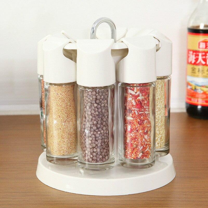 Kitchen Storage Bottles: New 8pcs/set Kitchen Storage Jar Glass Jar Spice Bottle