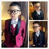 Big Boys Clothing Set Children Boys Small Suit Jacket Korean Leisure Suits Kids Wedding Prom Suits