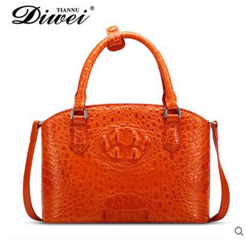 diwei 2018 new hot free shipping  really crocodile  shell bag  leisure single shoulder   fashion women handbag yuanyu 2018 new hot free shipping crocodile women handbag wrist bag big vintga high end single shoulder bags luxury women bag