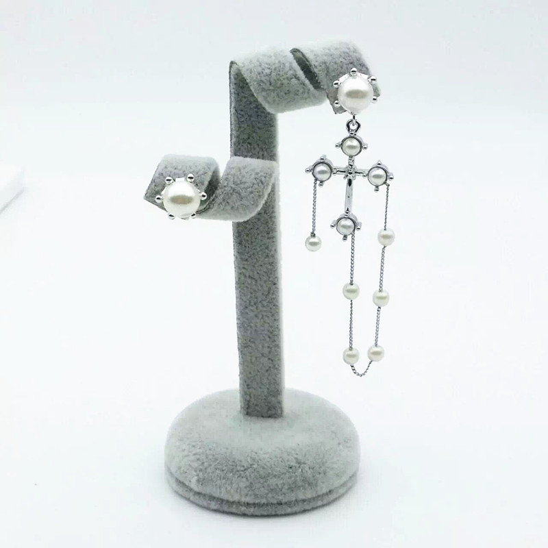 Fashion earring not the same as asymmetry on both sides Earrings female jewelery beautiful Personality gift