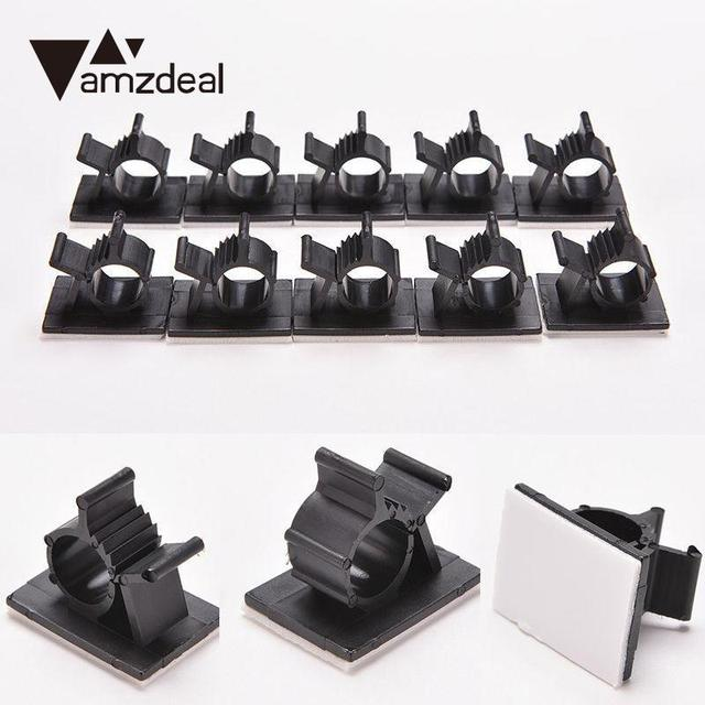 amzdeal Organizer Management Wire Cord Cable Holder Adhesive Backed ...