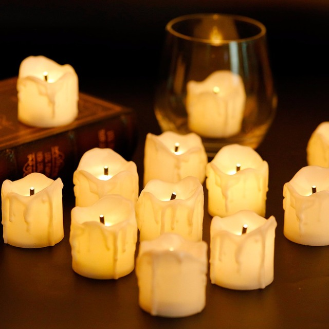 d44aa8f72 Pack of 12 LED Flameless Votive Candles