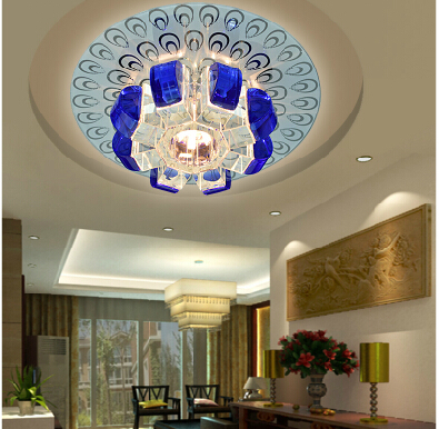 2014 New lamparas de techo Ceiling Lights Crystal Lamp Circle Led Ceiling Light For Living Room Modern Balcony Lamps 18cm abajur led modern circle pendant light for living room luminaires office lamp lanterns hanging ceiling lamps lamparas colgantes page 9