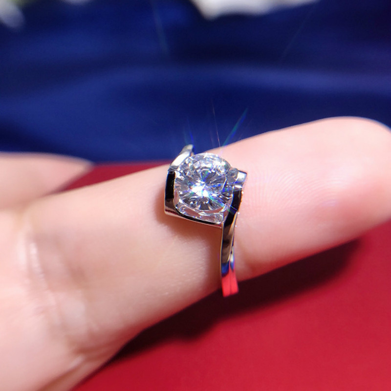 0 8ct Carat AAAAA Sona CZ Wedding Rings Luxury Rings for Women S925 Real Silver White Gold Color Luxurious Fashionable Jewelry in Rings from Jewelry Accessories
