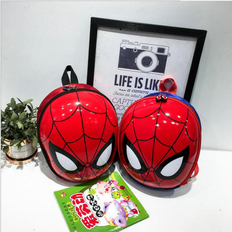 children's <font><b>backpack</b></font> 3D mochila escolar menino New EVA Spiderman Schoolbag Hard Shell <font><b>Backpack</b></font> Cartoon Lovely Mini <font><b>Kids</b></font> Cute Bags image