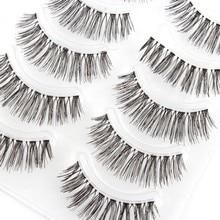 Handmade Natural False Eyelashes Makeup Long Wispy Fake Lashes Upper Fake Eyelashes 5 pair TF