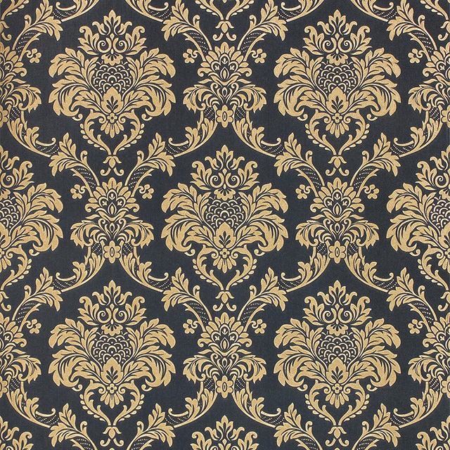 New european style luxury gold 3d wallpaper classic for Classic mural wallpaper