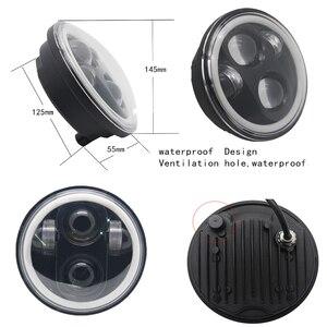 """Image 2 - 5 3/4 """"5.75 pollici Moto Moto HA CONDOTTO il Proiettore Full Halo Faro Per 5.75 pollici Moto"""