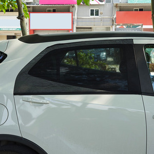 Image 2 - 2Pcs רכב חלון כיסוי שמשיה וילון UV הגנת מגן שמש צל רשת שמש יתושים אבק הגנה