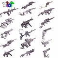 Riot Anime Crossfire cross fire weapon gun key Keychain weapons counter strike global offensive csgo cs go ak 47 Keyring 6cm
