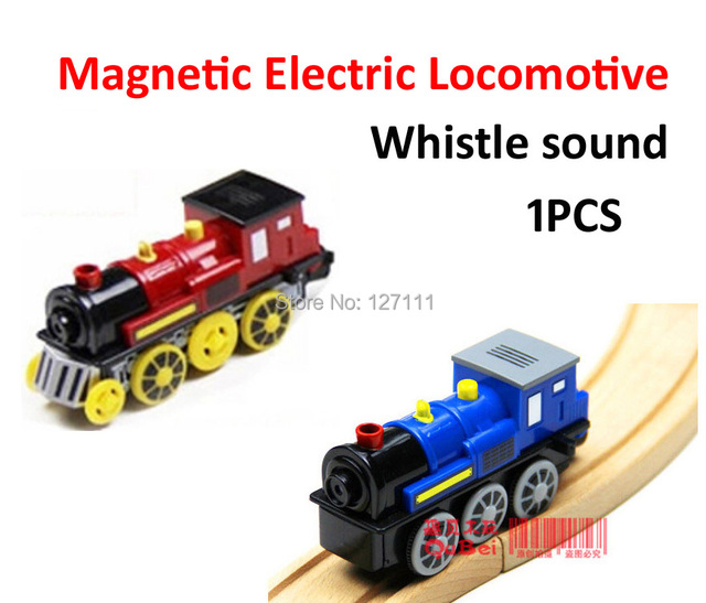Высококачественный звук желто-светодиод электровоза совместимость деревянный трек поезд игрушка 1 шт.