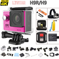 2016 New 4K WiFi Action camera Ultra HD 1080P/60fps 2.0 LCD 170D Helmet Cam go waterproof camera pro style Original H9R/ H9