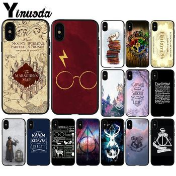 Yinuoda Harry Potter Hogwarts Hot Selling Phone Accessories Case for Apple iPhone X XS MAX 7 6 6S Plus 5 5S SE XR Case hình nền điện thoại harry potter