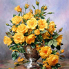 The Gold Tulip DIY Painting By Numbers Kits Coloring Painting On Canvas Handpainted Home Decor Wall