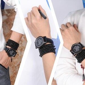 Image 5 - ボボ鳥 WP24 シンプルな竹メンズ · レディースクールなスカルデザインメガネクォーツ腕時計