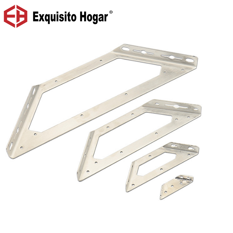 Stainless Steel Bed Cabinet Connecting Bracket Supporting Gusset Angle 90 Degree Angle  Corner Brackets 4pcs/carton