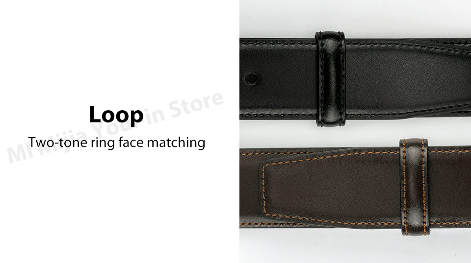 Original xiaomi mijia seven-sided Italian leather double-sided business belt 3.5cm two-color double-sided cut length (15)