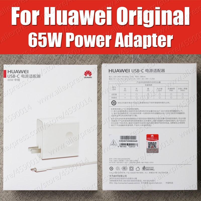 CP81 USB PD 65 W SuperCharge d'origine Huawei MateBook X Pro D E adaptateur secteur MagicBook MateBook 13 chargeur