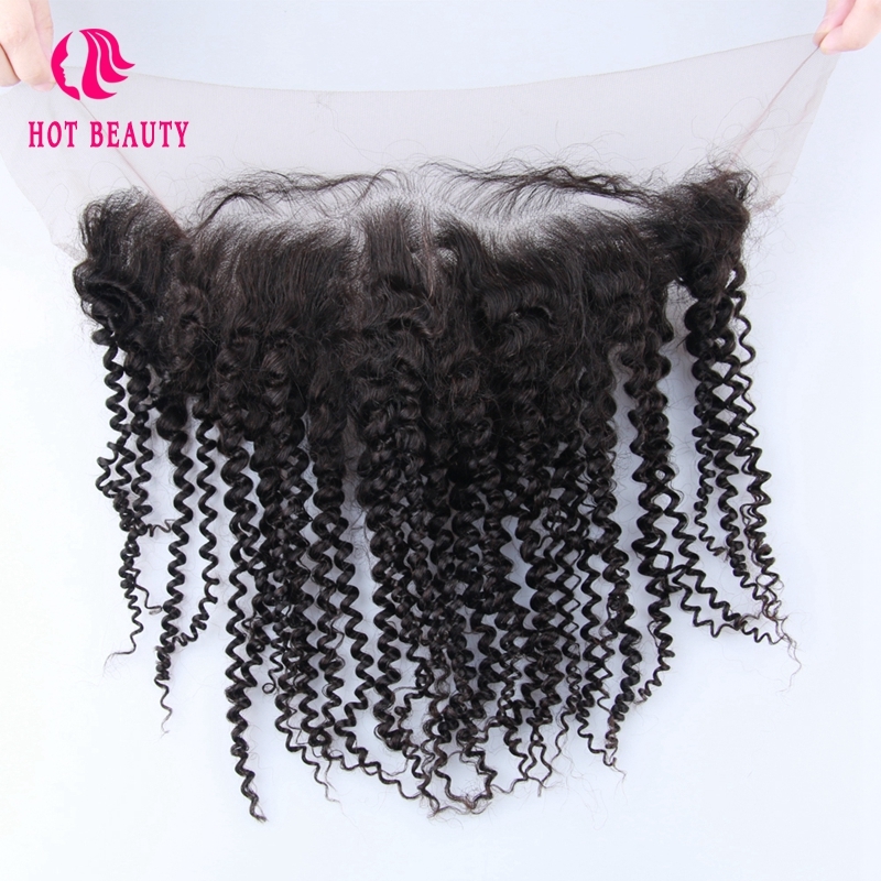 Hot Beauty Hair Lace Frontal Pre Arrancado Con Baby Baby Brasileño - Cabello humano (negro)