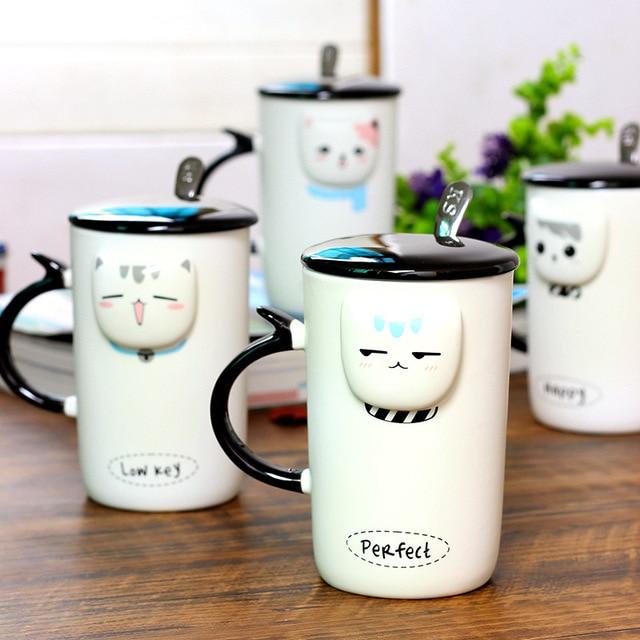 Buy Cartoon Hot Mug Relief Cat Head