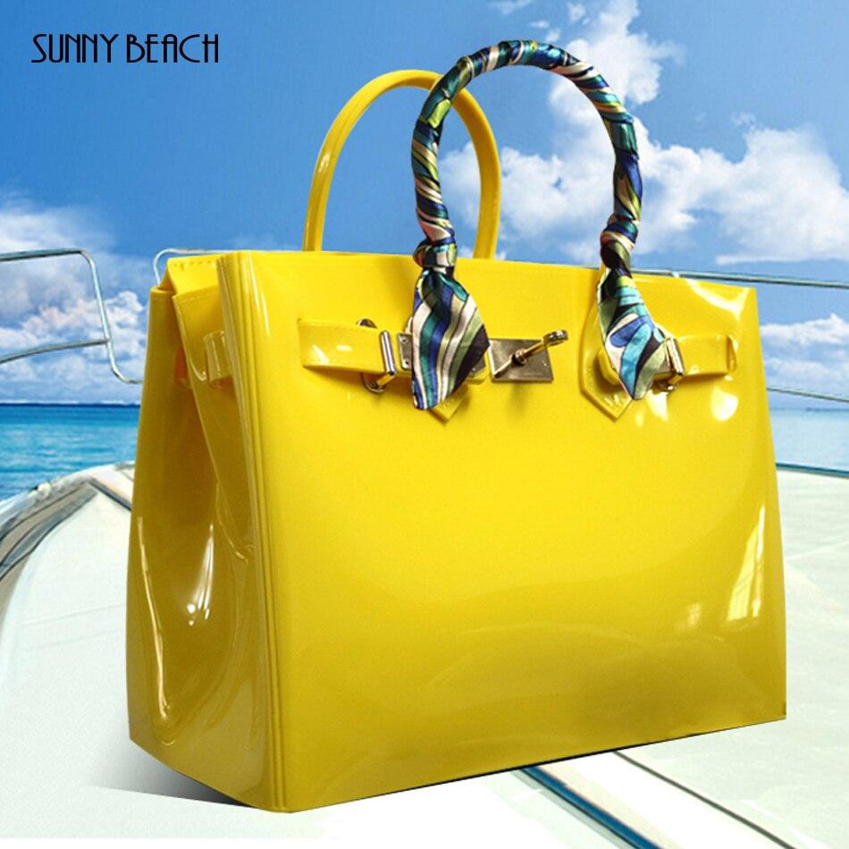 Sunny plage marque de mode design femmes sac à main de haute qualité PVC étanche sac de plage sacs à bandoulière pour les femmes