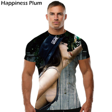 Sexy women drinking beer 3D men's t-shirt