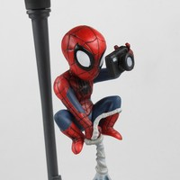 Anime Spider Man Superheros The Amazing Spiderman PVC Action Figures Collectible Model Kids Toys Doll 14cm